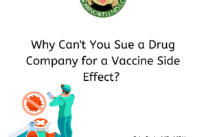 Why can't you sue a drug company for a vaccine reaction